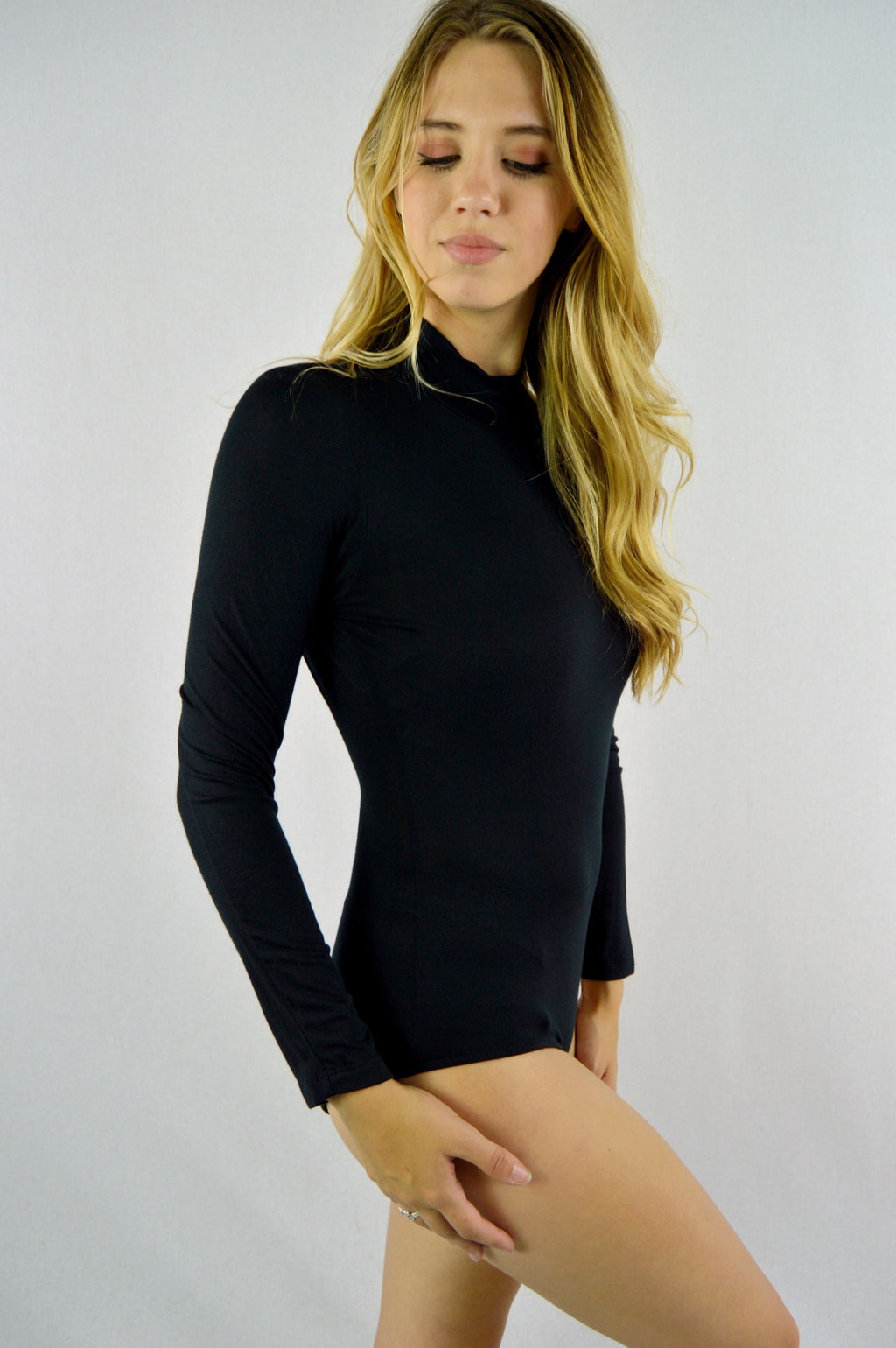 Women's Long Sleeve Open Back Bodysuit