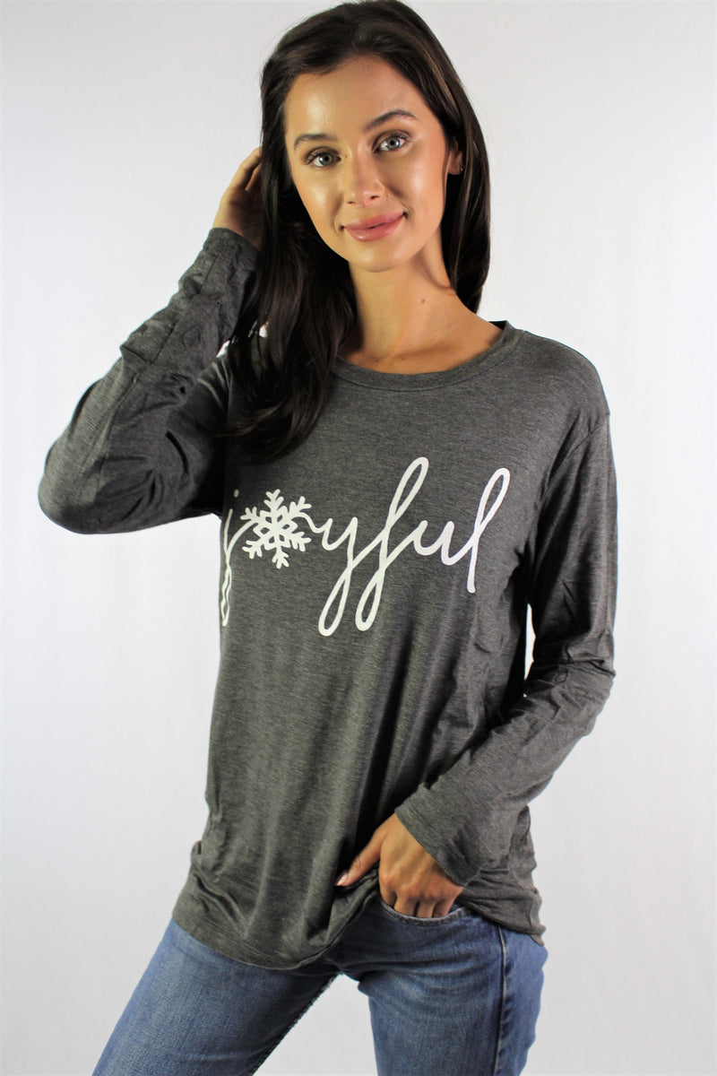 Women's Long Sleeve Top with Holiday Theme