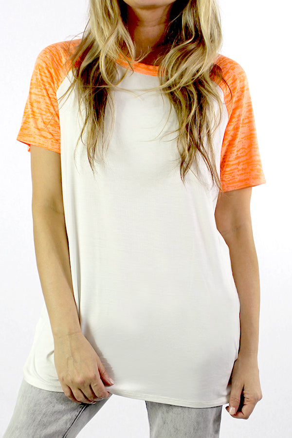 Women's Short Sleeve Raglan Tee