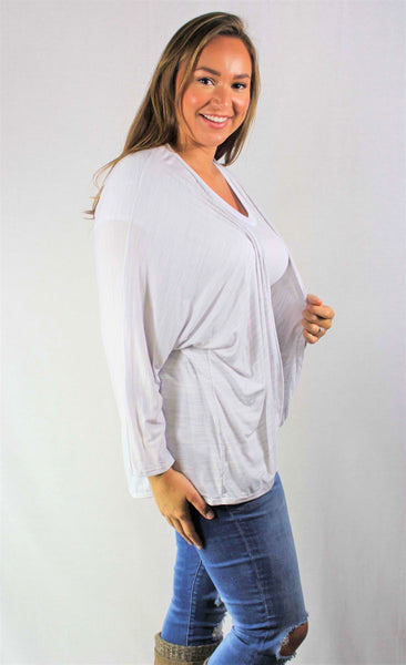 S/S Cold Shoulder Scoop Neck Top