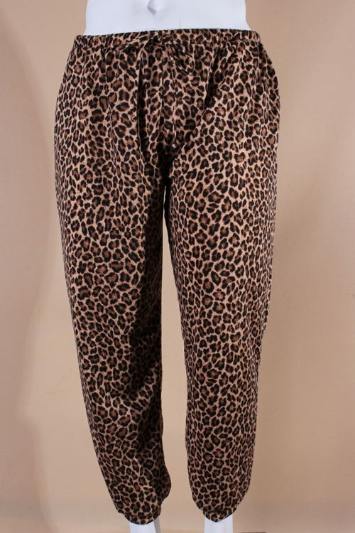 Women's Plus Size Animal Print Jogger with Side Pockets