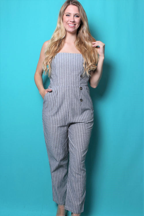 Women's Jumpsuit with Button Detail