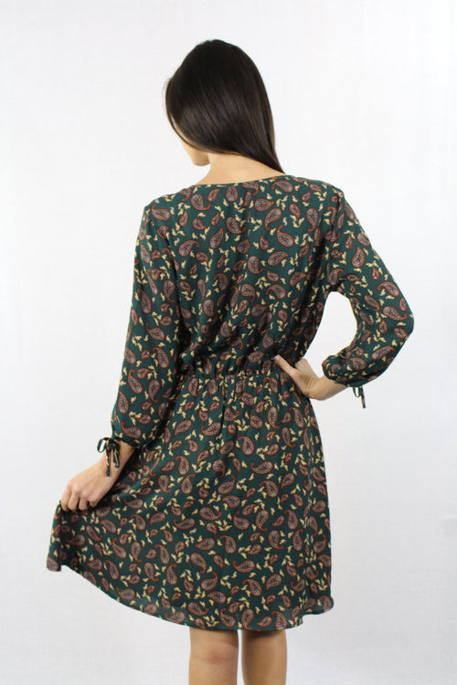 Long Sleeve Printed Dress