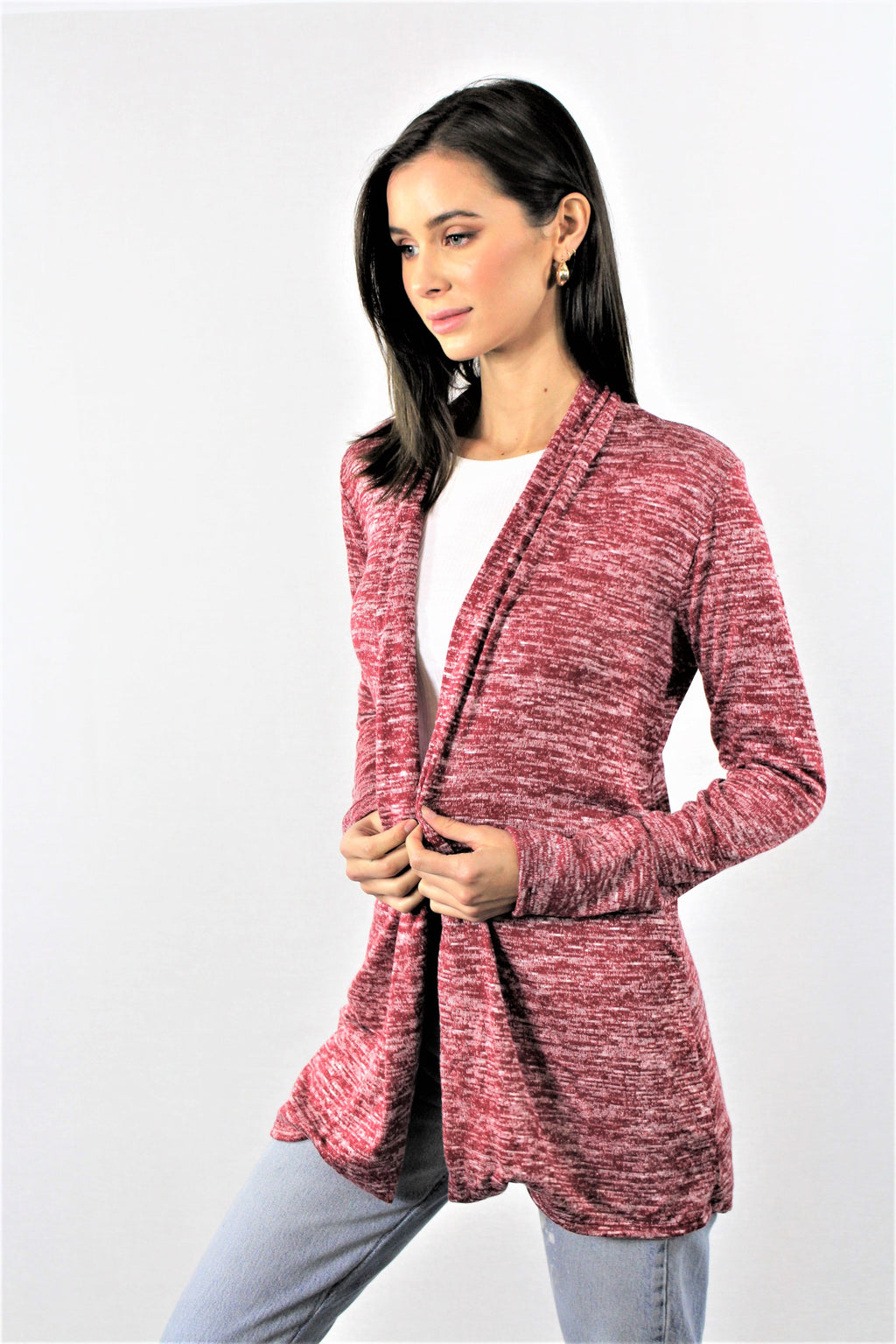 Straight Open Front Cardigan