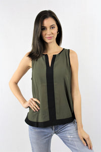Sleeveless Round Neck with Cut