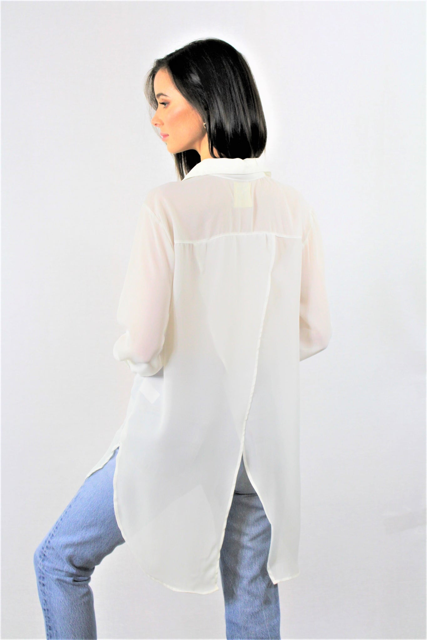 Long Sleeve Open Back Tunic
