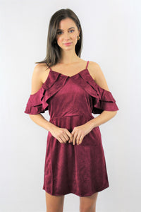 Rounded Strap Ruffle Dress
