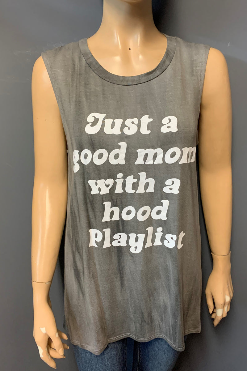 "Women's Printed ""Good Mom"" Tank Top"