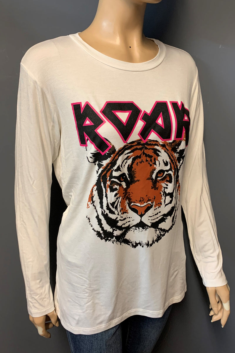 "Women's Printed Long Sleeve ""Roar"" Top (LAST PACK)"