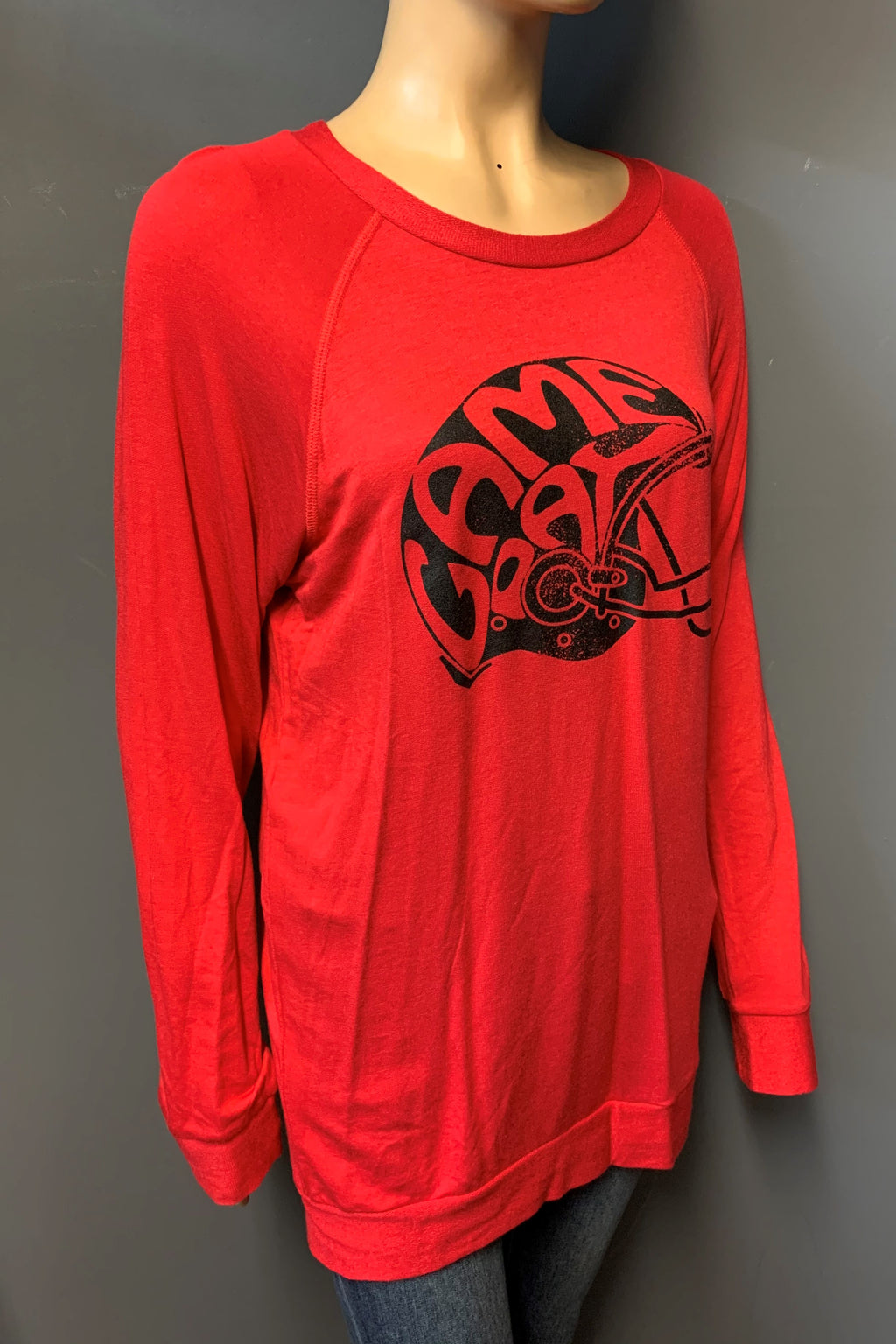 "Women's Printed Long Sleeve ""Game Day"" Top (LAST PACK)"