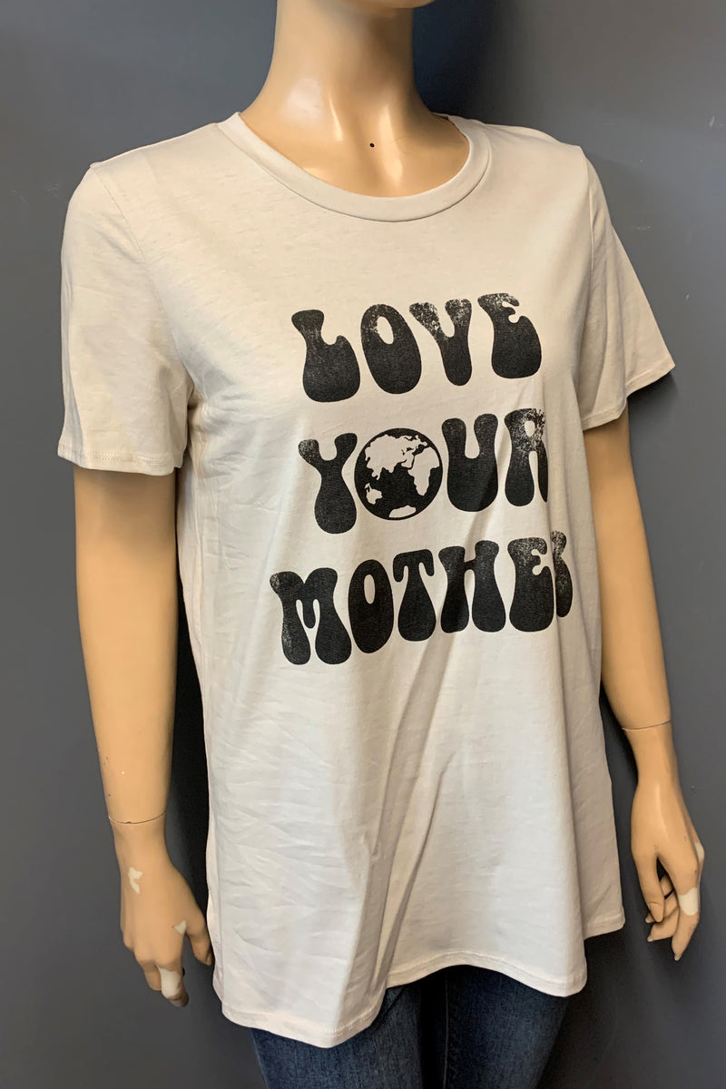 "Women's Printed ""Love Your Mother"" Top (LAST PACK)"