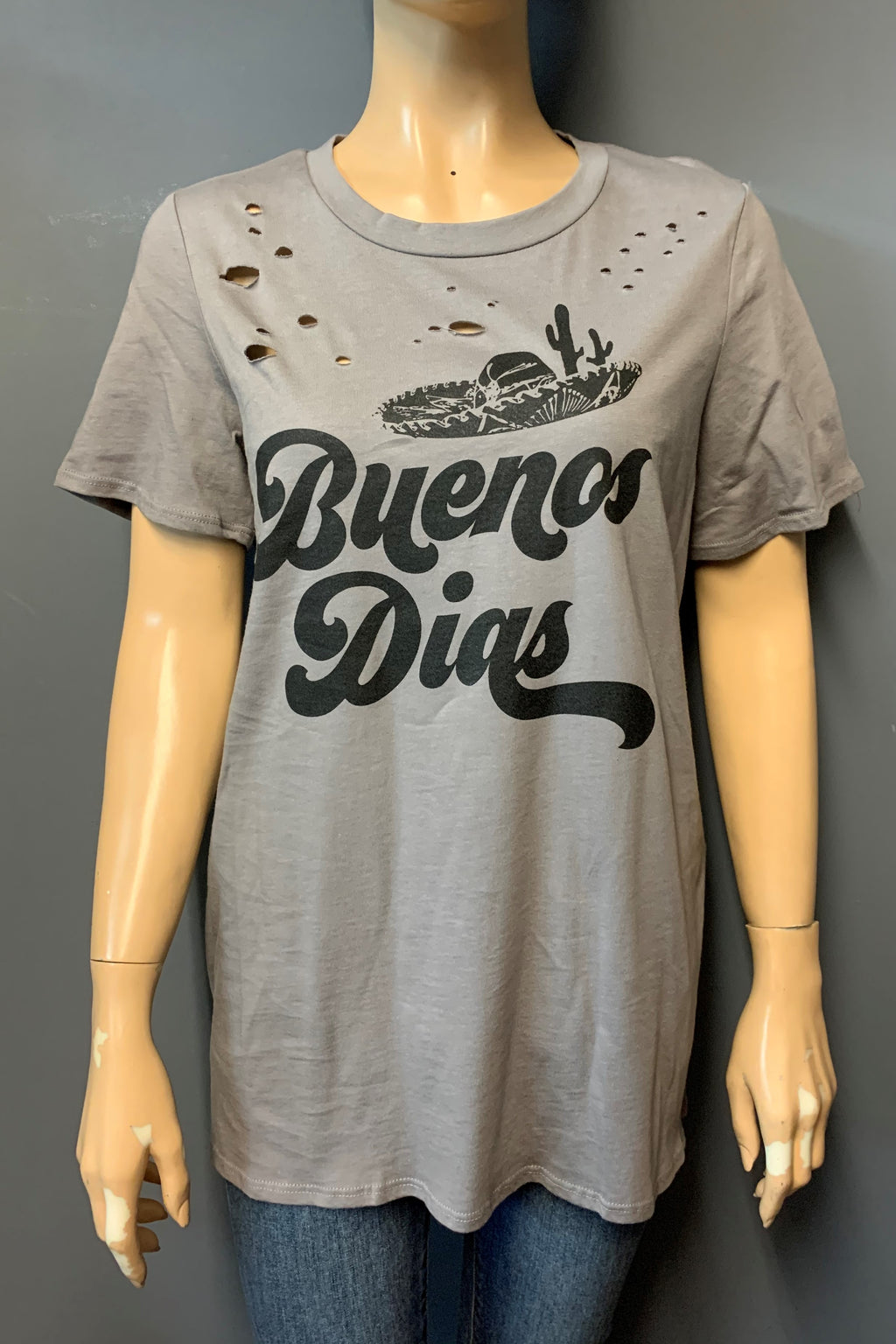 "Women's Printed ""Buenos"" Top (LAST PACK)"