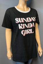 "Women's Printed ""SUNDAY KINDA GIRL"" Top (LAST PACK)"