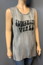 "Women's Printed ""Sunshine Vibes"" Muscle Tank Top (LAST PACK)"