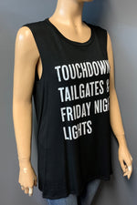 "Women's Printed ""Touchdowns"" Muscle Tank Top (LAST PACK)"