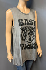 "Women's Printed ""Easy Tiger"" Muscle Tank Top (LAST PACK)"