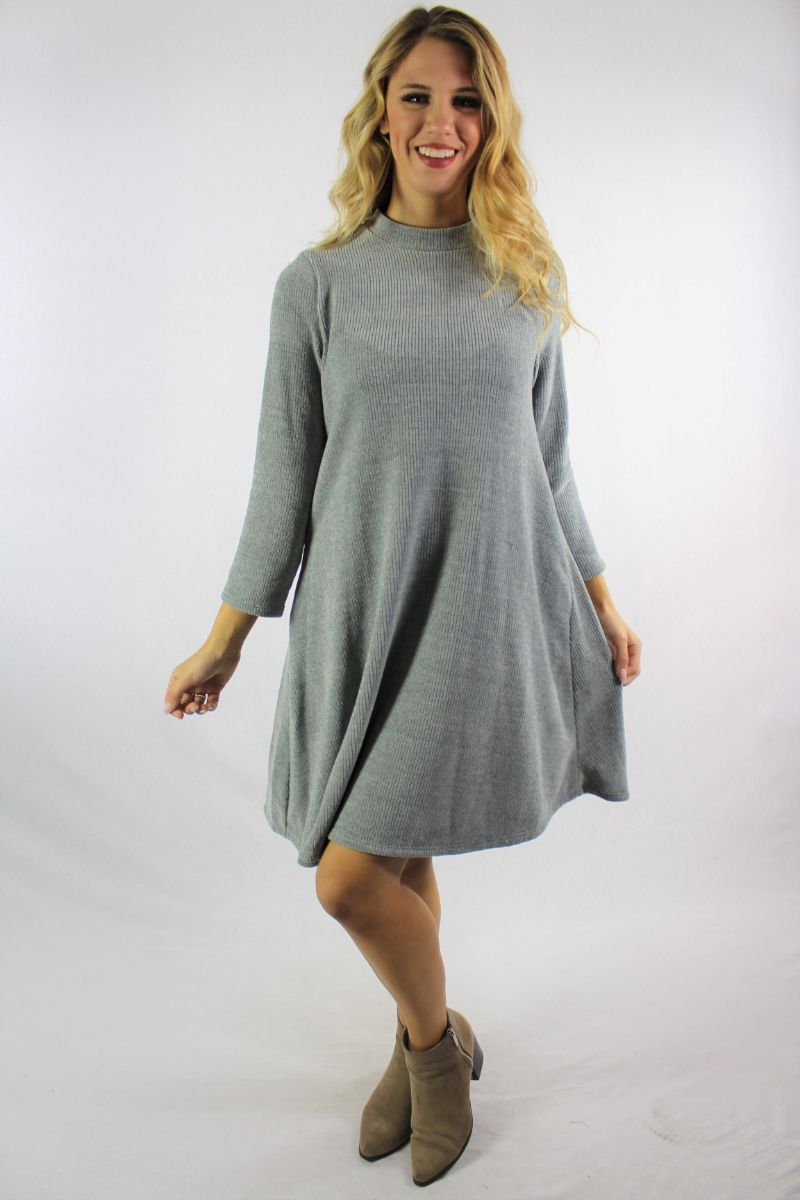 Women's Long Sleeve Chenille Fabric Dress
