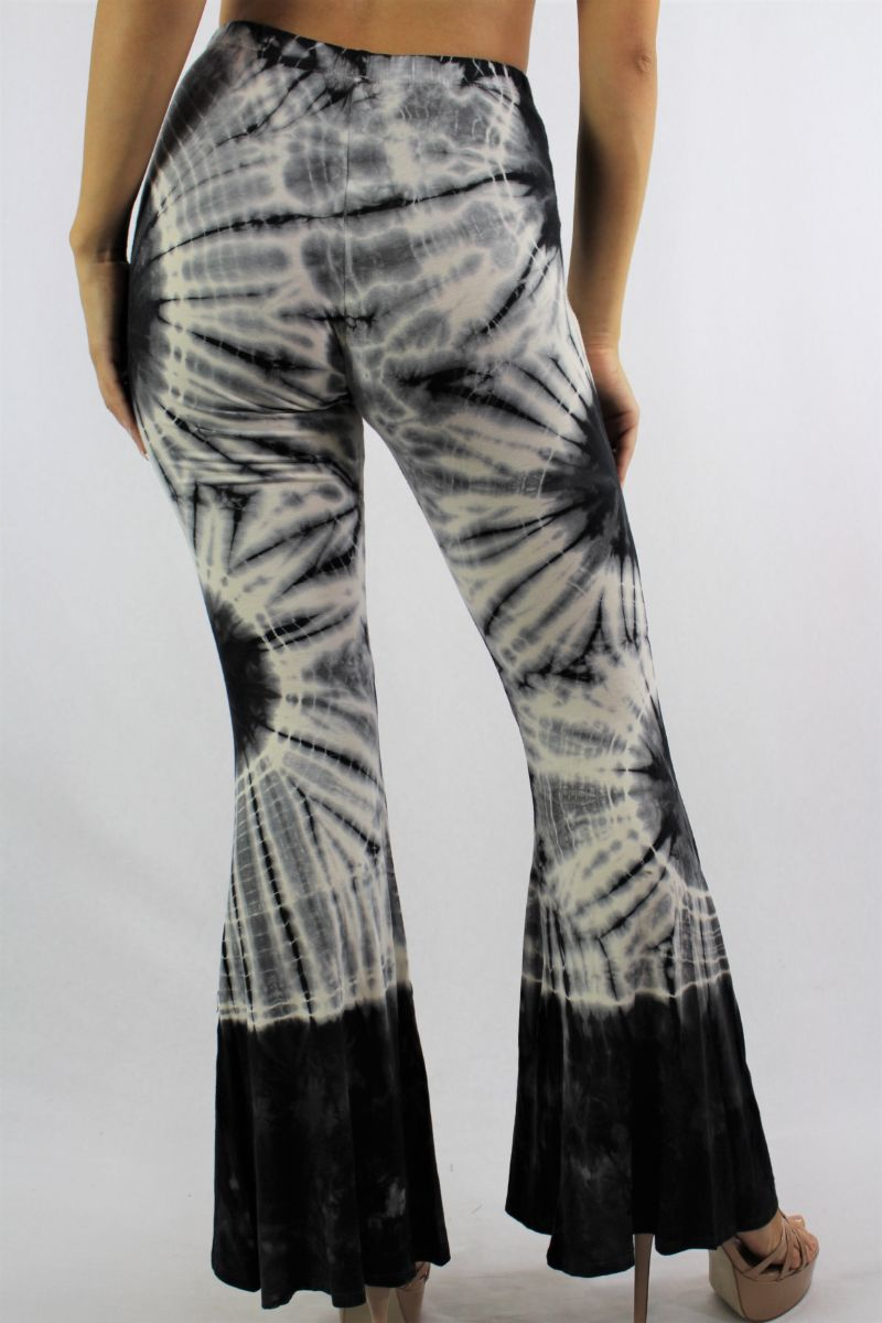 Women's Tie Dye High Waist Bootleg Pants