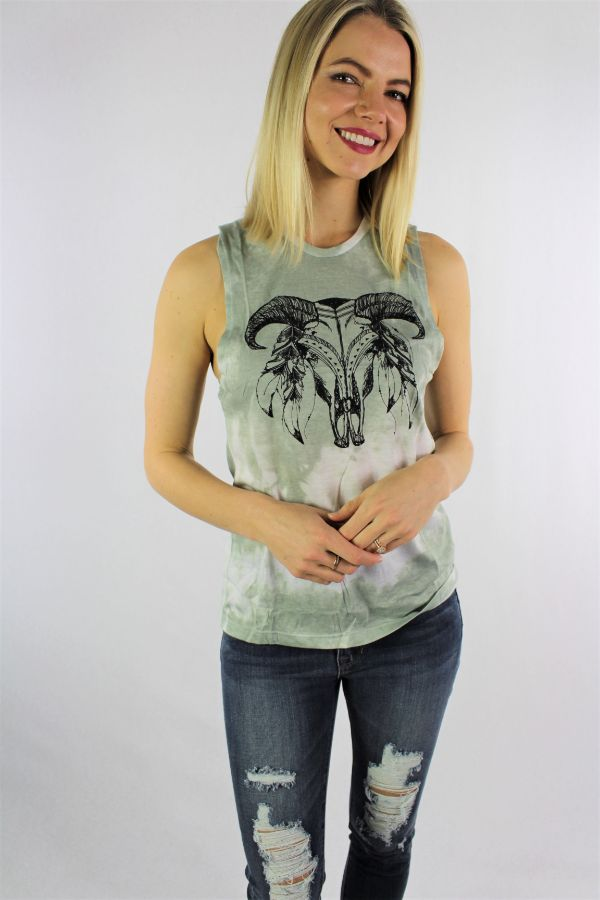 Women's Printed Muscle Tank Top