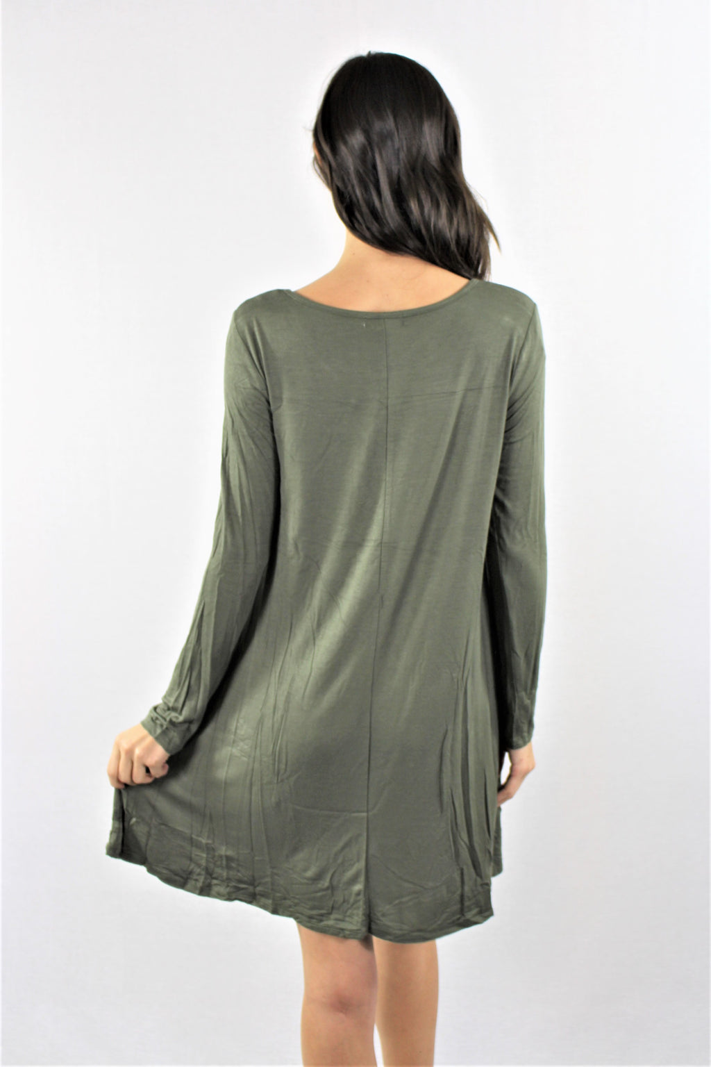 T-Shirt Dress with Front Pocket