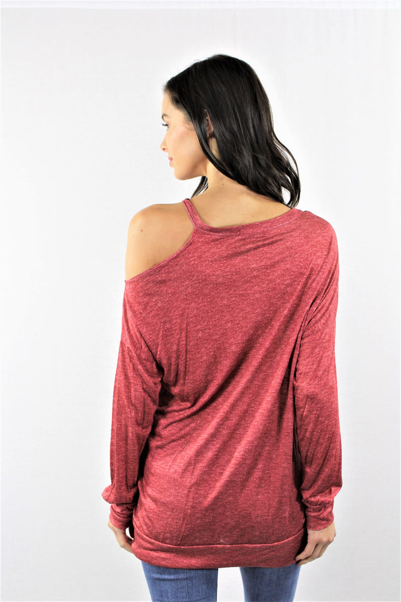 One Sided Cold Shoulder Top