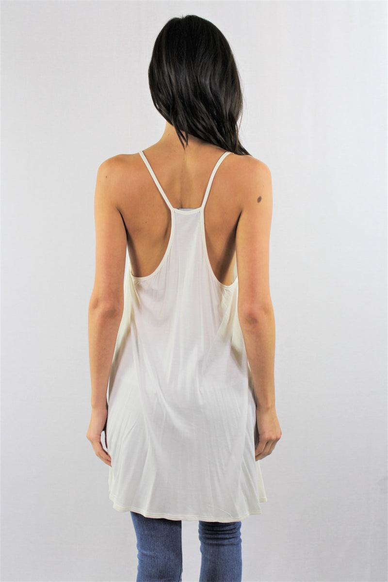 String Strap Tunic Style Top
