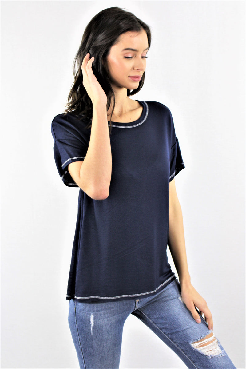 Round Neck Relaxed Tee