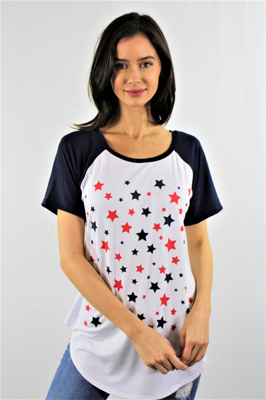 Multiple Stars Baseball Tee