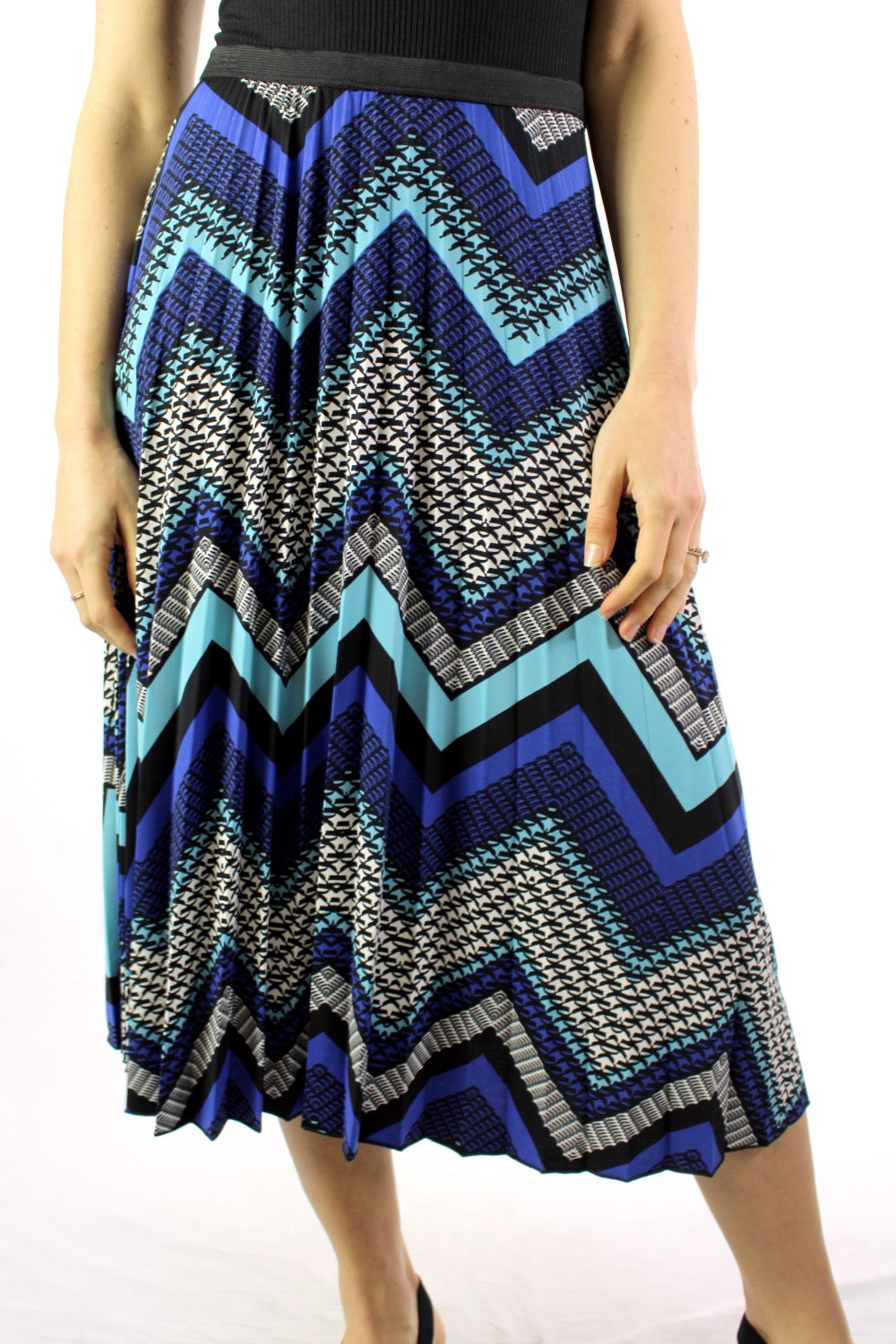 Women's Printed Pleated Skirt