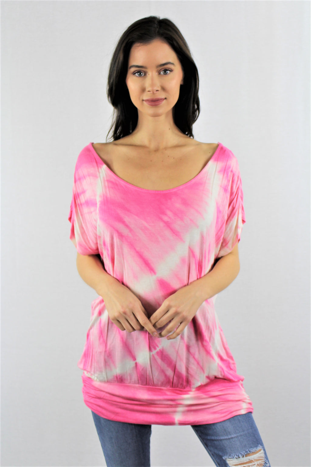 Tie Dye Open Back Tunic