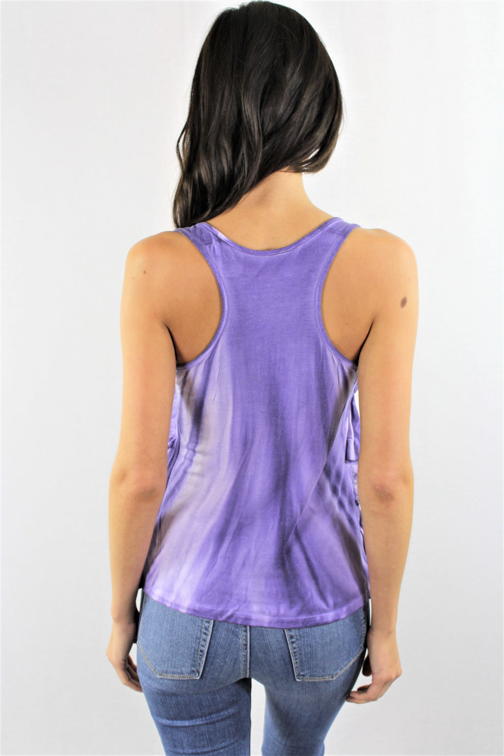Layered Lace Tie Dye Tank Top
