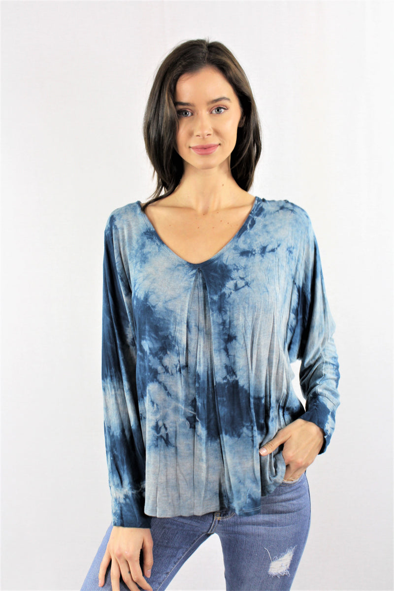 Long Sleeve Tie Dye with Back Ribbon
