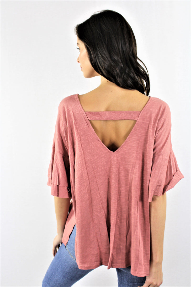 Women's Layer Bell Sleeve Boxy Tee