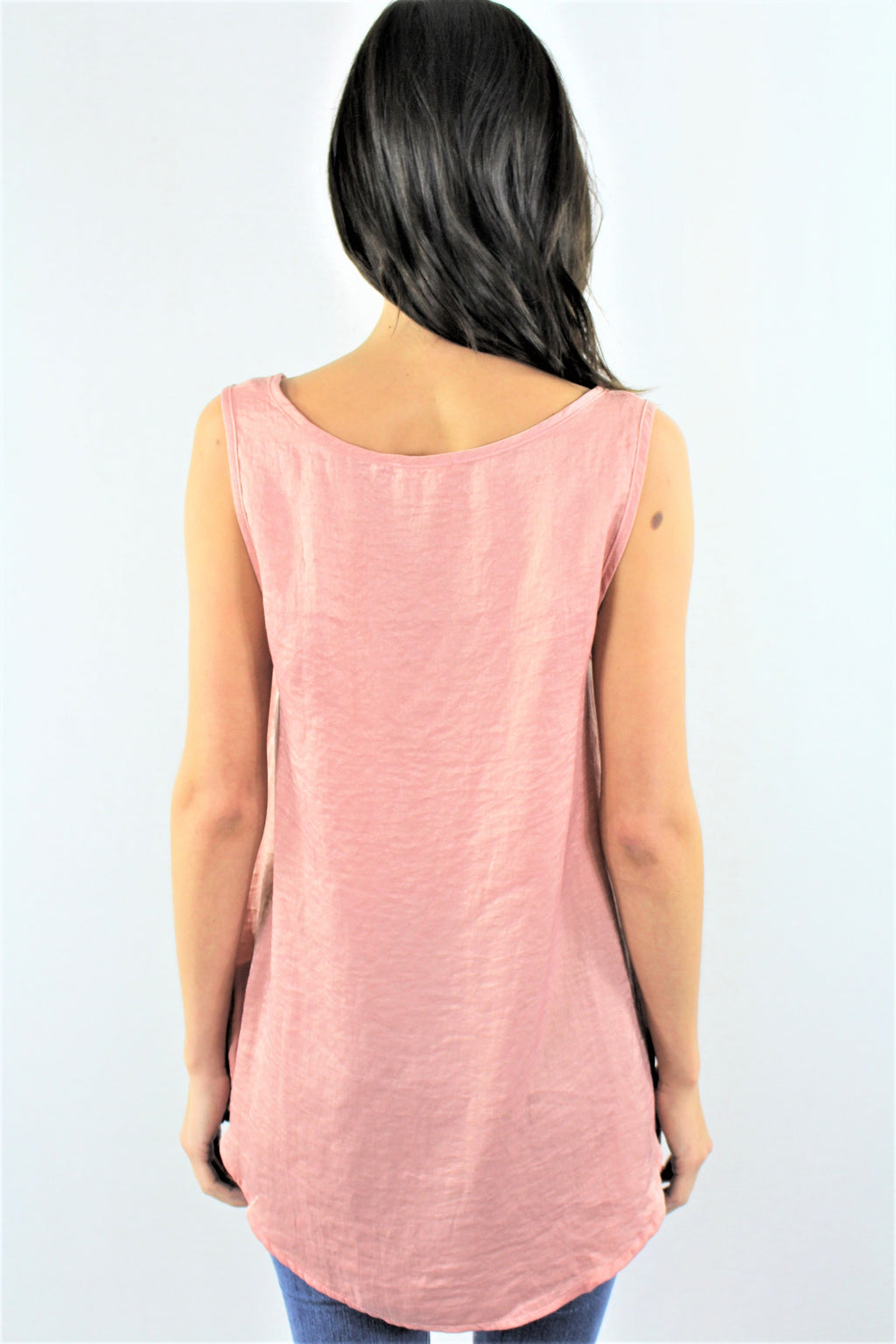Open Front Criss Cross Tank Top