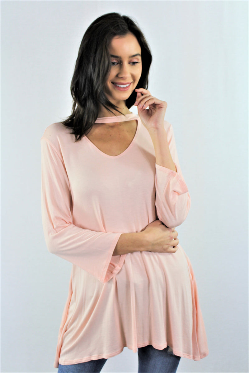 3/4 Sleeve Tunic Top