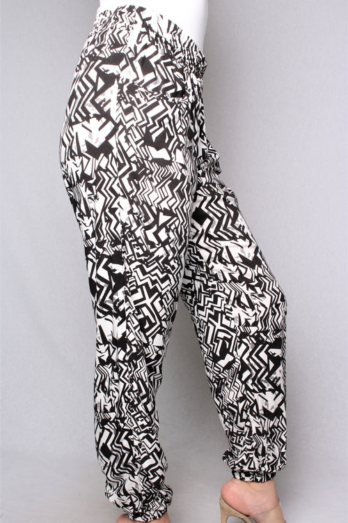 Women's Loose Fit Printed Jogger Pants