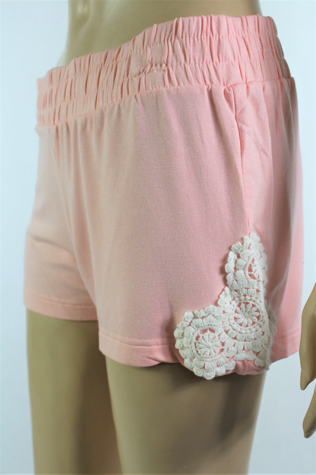 Women's Mini Shorts with Crochet Details
