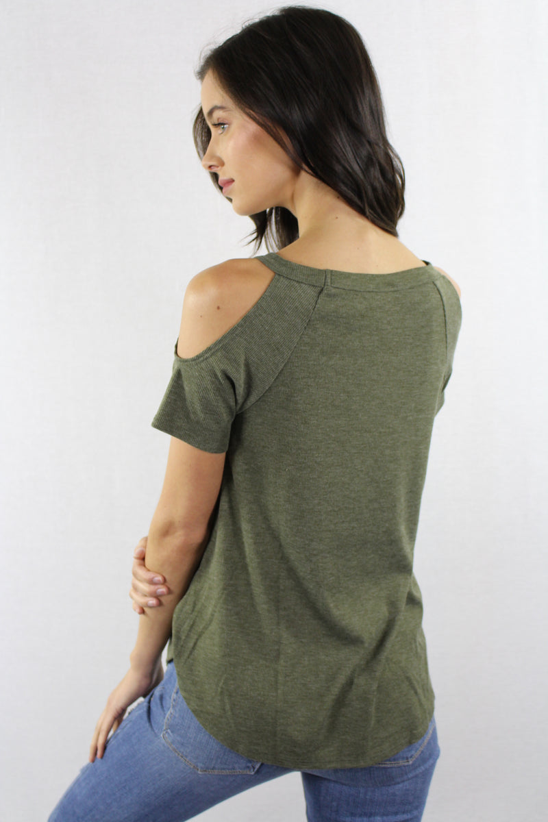 Cold Shoulder Relaxed Fit Tee