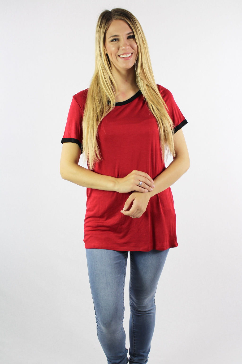 Women's Short Sleeve Ringer Tee