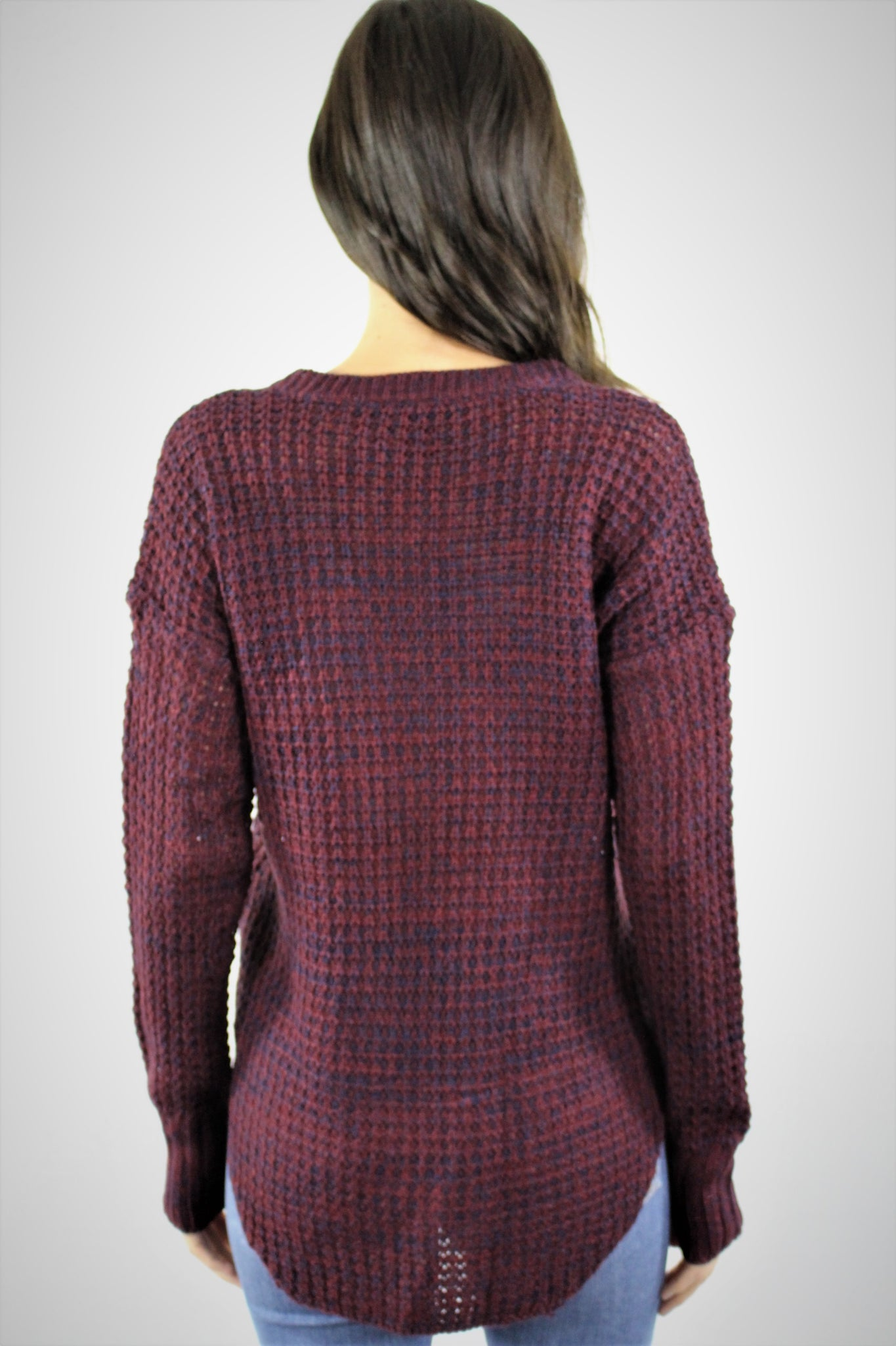 Women's V Neck Knitted Sweater