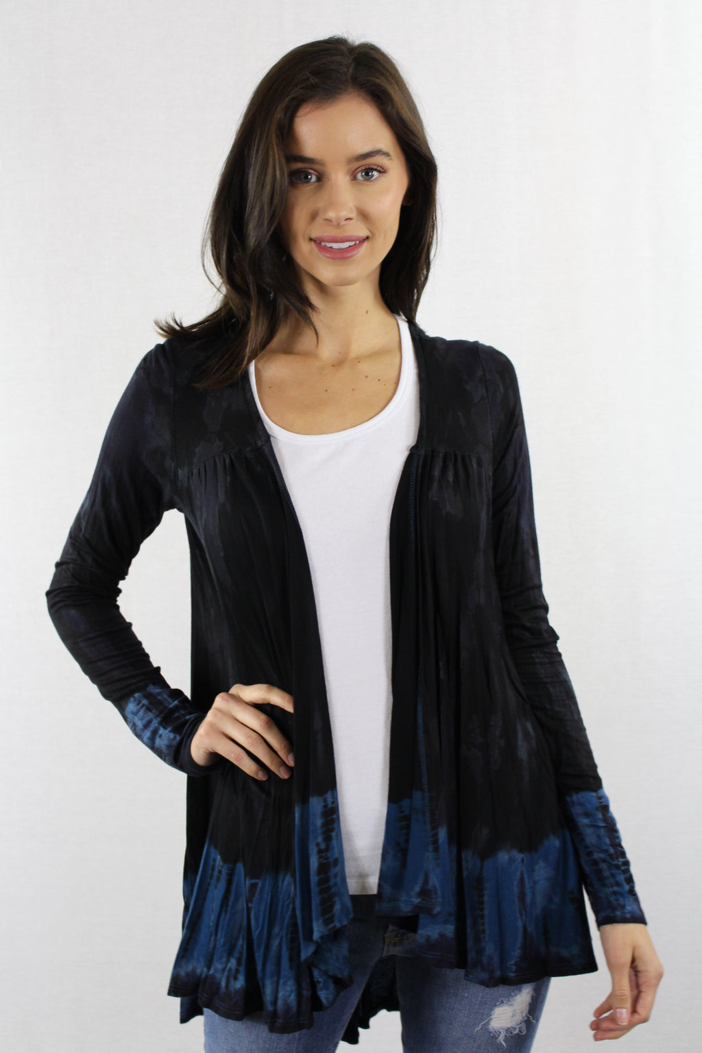 Long Sleeve Tie Dye Cardigan