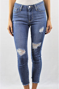 Medium Wash Mid Rise Skinny Jeans
