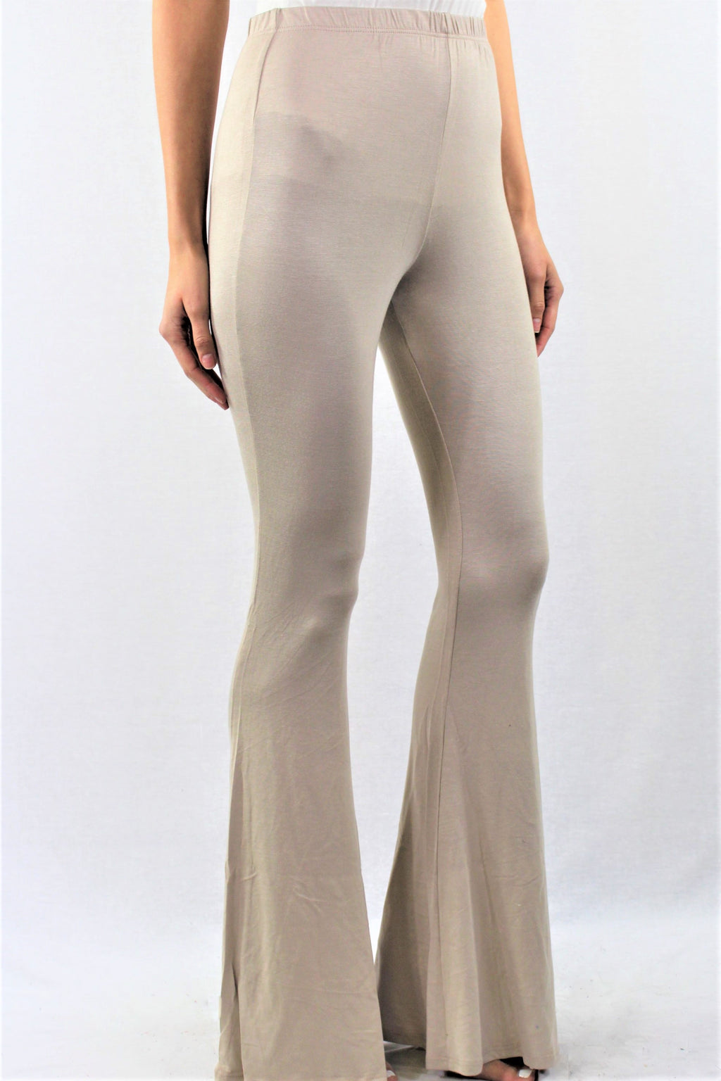 Solid Bell Bottom Pants