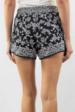 Elastic Waist Drawstring Tribal Shorts