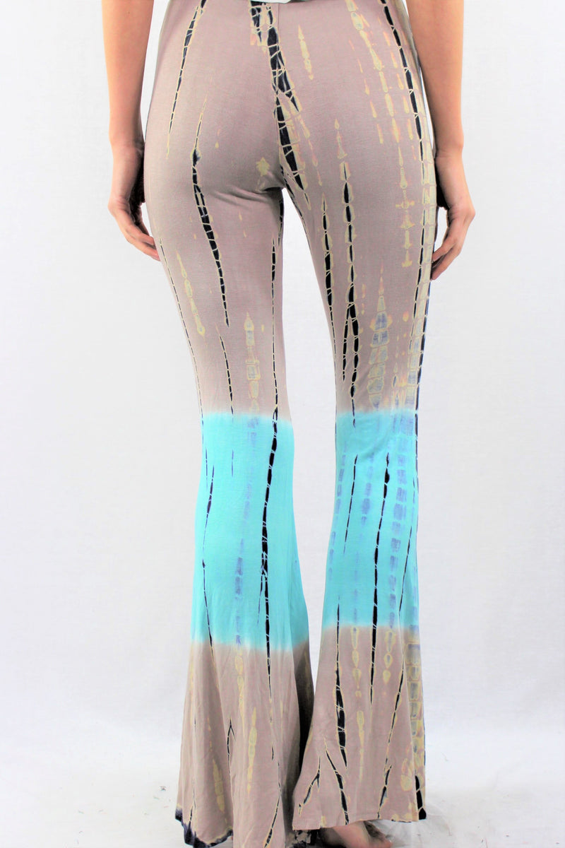 Bamboo Tie Dye Bell Bottom Pants