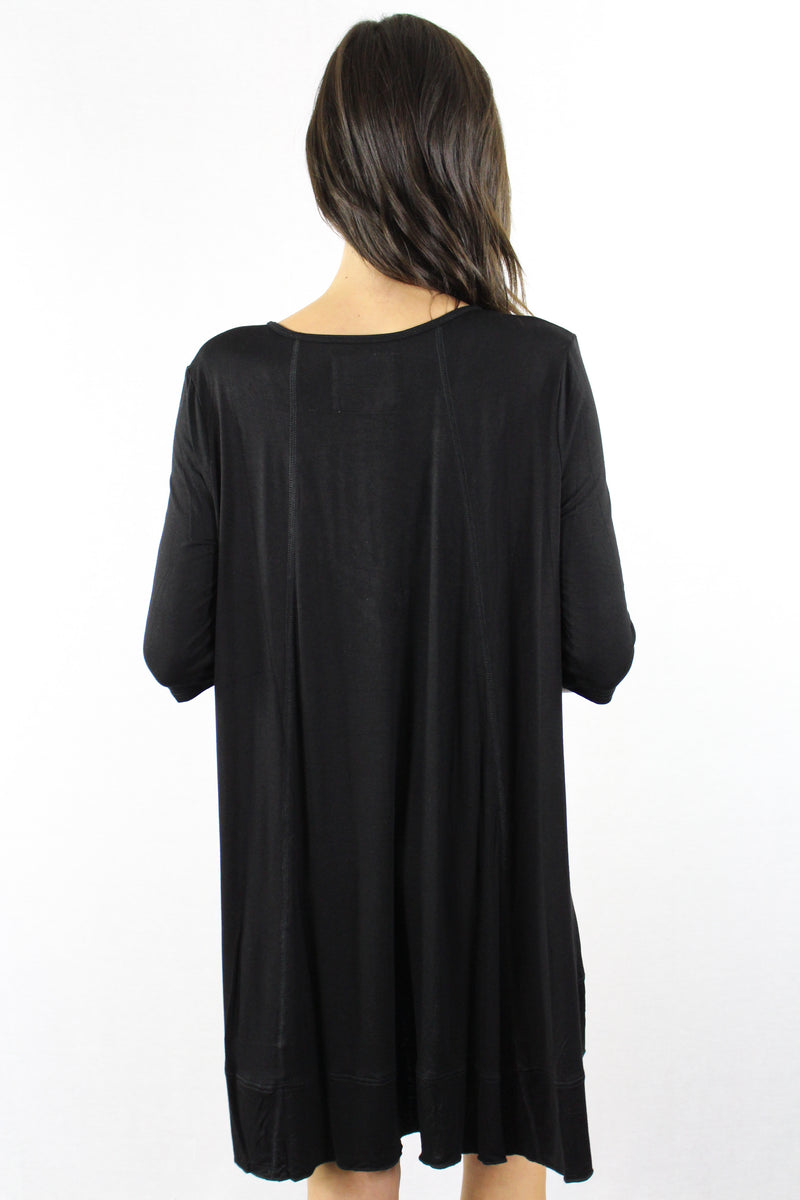3/4 Sleeve Dress with Criss Cross Front