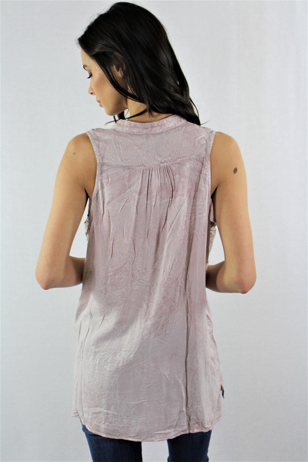 V neck Tank Top with Front Pocket