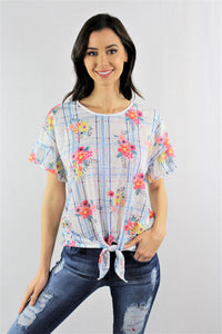 Ruffled Sleeve Floral Top