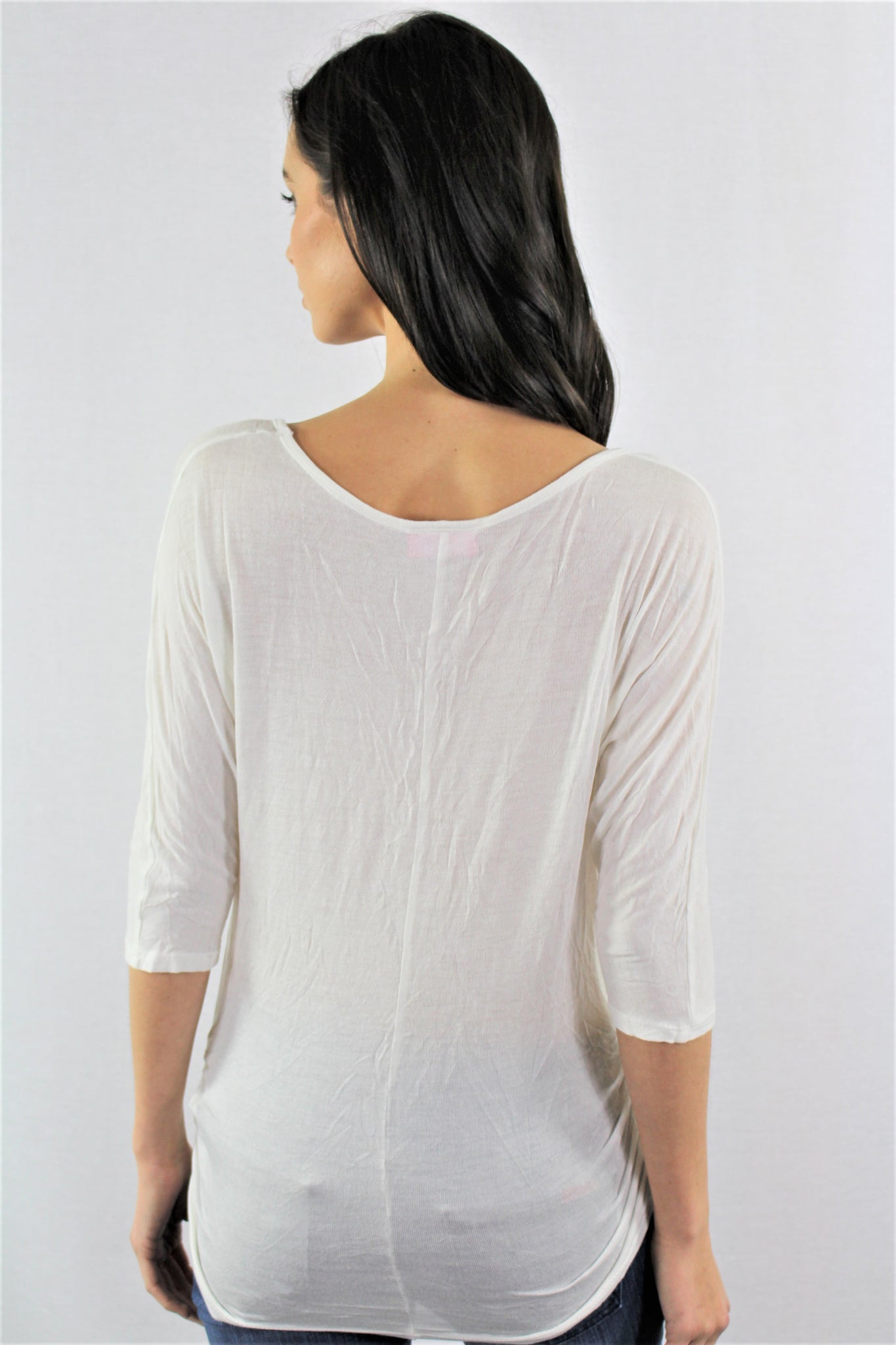 3/4th Sleeve V Neck Top
