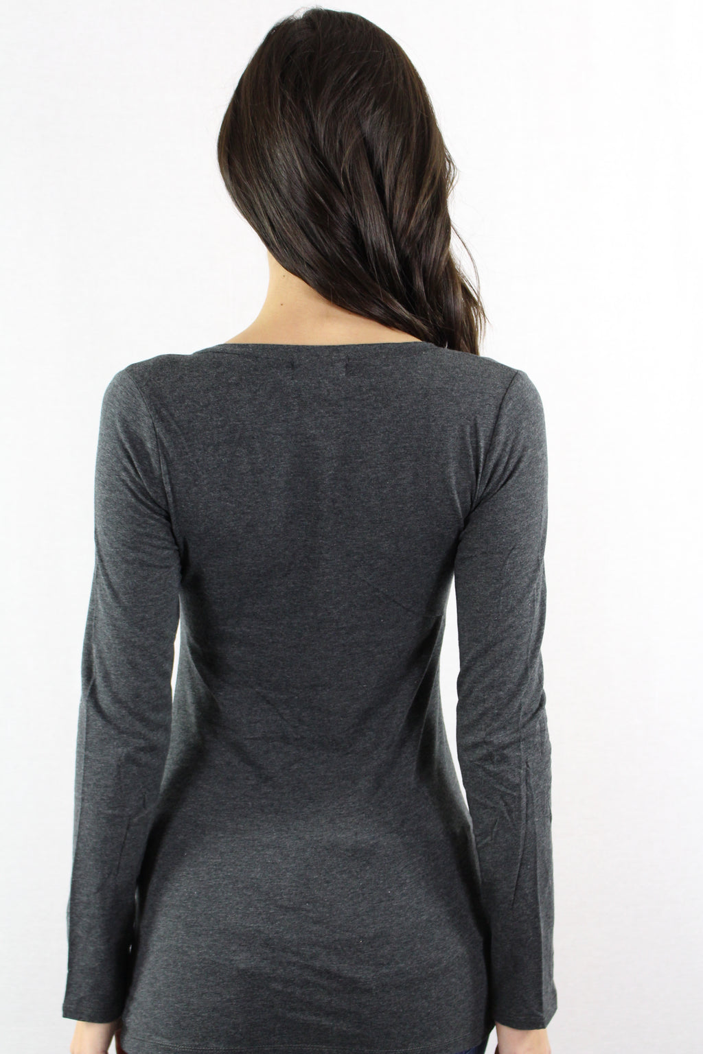 Women's V Neck Long Sleeve Fitted Top